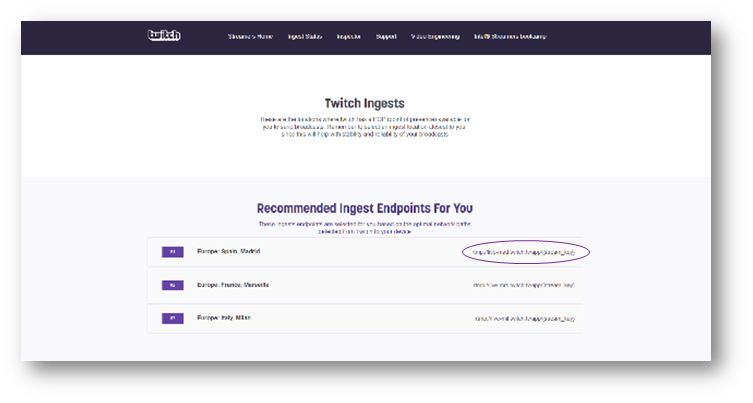 Connect with Twitch (RTMP for push) – Watchity - Help Center
